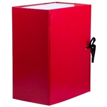 Купить Короб архивный с завязками OfficeSpace разборный, БВ, 150мм, красный, клапан МГК 284724  доставка и самовывоз. В магазине OFFICEKANC.