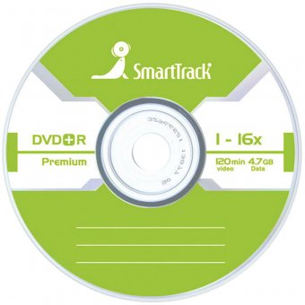 Диск DVD+R 4.7Gb Smart Track 16x Slim