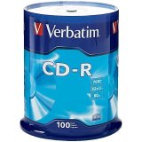 Диск CD-R 700Mb Verbatim 52x Cake Box (100шт)