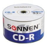 Диски CD-R SONNEN 700 Mb 52x Bulk, КОМПЛЕКТ 50 шт, 512571