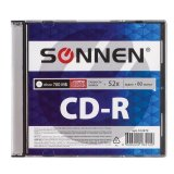 Диск CD-R SONNEN, 700 Mb, 52x, Slim Case (1 штука), 512572