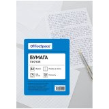 Бумага писчая OfficeSpace, А4, 100л, 55г/м2, клетка