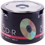 Диск CD-R 700Mb TDK 52x Cake Box (50шт)