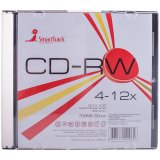 Диск CD-RW 700Mb Smart Track 4-12x Slim